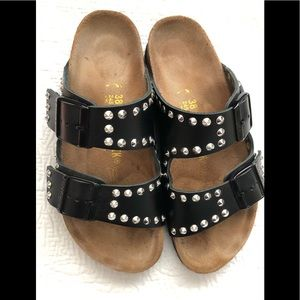 RARE!!! Ltd Ed leather, studded Birkenstock's 38